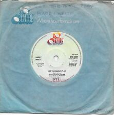 """BARRY WHITE - LET THE MUSIC PLAY - 7"""" 45 VINYL RECORD - 1975"""