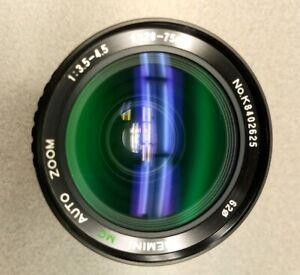 Gemini MC Auto Zoom 28-75mm f/3.5-4.5 lens K8402625 w/ AE-1 Skylight (1A) filter