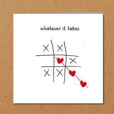 I Love You Birthday Anniversary Valentines card heart boyfriend girlfriend