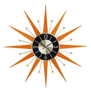 Wooden Orange Wall Clocks For Sale In Stock Ebay