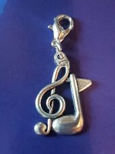tibetan silver musical note clip on charm