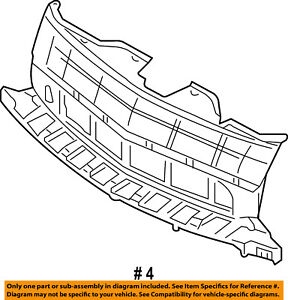 Lincoln FORD OEM 07-10 MKX Grille-Reinforcement 7A1Z8A284A