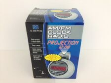 Audiovox Am/Fm Clock Radio Model Axcr574-04 Pivoting Projector