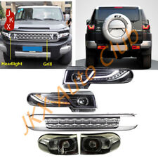 LED Halo Headlights w/ Grille and Taillights Kit For Toyota FJ Cruiser 2007-2016