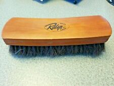 """Boot Shoe Brush with 9"""" Professional Wood Handle and DARK Horse Hair Bristles"""