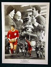 Ron Yeats Signed Liverpool Large Photograph