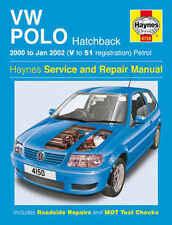 VOLKSWAGEN Polo Manual de reparación Taller Haynes Manual De Servicio 2000-2002 4150