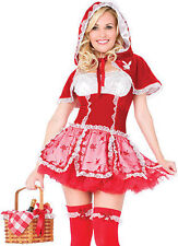 Onorevoli Little Red Riding Hood FIABE STORYBOOK Fancy Dress Costume Outfit