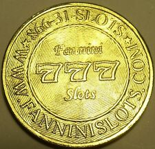 Suerte 777 Brilliant Uncirculated Oro Tono Compartimento B/B Token ~ For Good