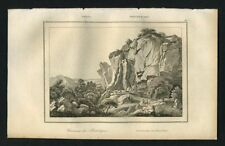 GRECE CARRIERE DU PENTELIQUE gravure originale de 1841