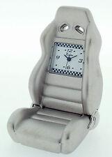 Novelty Miniature Race Seat Clock in Chrome Finish