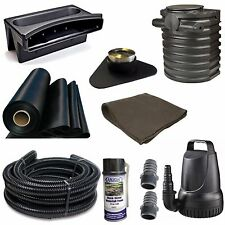 "10x25 Med Pondless Waterfall Kit Atlantic 16"" Weir & Vault 4000GPH Pump TGPMDA6"