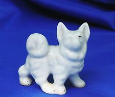 Vintage Samoyed Spitz American Eskimo dog with * nice curled tail porcelain *