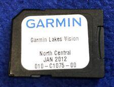 Garmin Bluechart Lakes Vision NORTH CENTRAL SD / Micro SD OEM Chart Card 2012