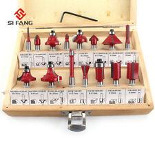 15Pcs Milling Cutter Router Bit Set Tungsten Carbide Router Bit 6mm Shank