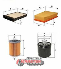 Set L: Innenraumfilter+Luftfilter+Kraftstofffilter+Ölfilter Inspektionspaket