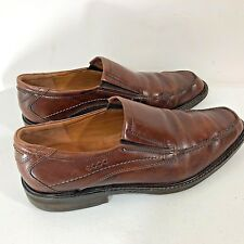 Ecco Mens Size 11.0 to 11.5 Windsor Brown Leather Slip On Shoe 051804