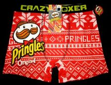 Mens Crazy Boxer Pringles Christmas Boxer Brief Size M