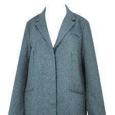 Womens Ladies Grey Full-Length Winter Overcoat Plus Size Wool Blend Jacket Coat