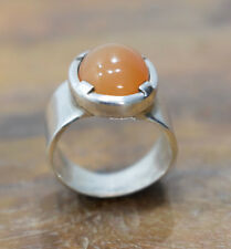 Ring Sterling Silver Cascading Garnet Stone Ring