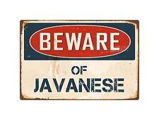 "Beware Of Javanese 8"" x 12"" Vintage Aluminum Retro Metal Sign Vs231"