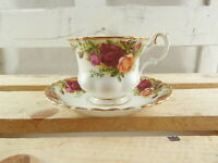 VINTAGE ROYAL ALBERT PORCELLANA TAZZA TÈ COLLEZIONE COUNTRY ROSES COLLECTION
