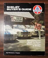 Vintage car book SHELBY BUYER'S GUIDE Richard Kopec 1981 Ford Mustang manual