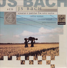 BACH: Sonatas & Partitas for Solo Violin. Cello Suites. Tetzlaff, 4 CDs, NEU