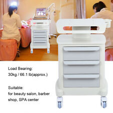 3 Layers Salon Hairdresser Beauty Storage Trolley Hair Drawers Colouring Cart