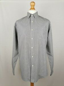 Mens Dockers Long Sleeve Shirt (3481) Size Large Modern Classic Fit Grey Check