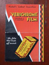 KODAK CANADA VERICHROME FILM SALES BROCHURE, A 3837 M.P. LTD 500.4.31/cks/208433
