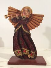 Wood Angel Christmas Hand Painted and Signed