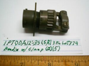 1  PT00A12-3S Military Receptacle Connector w/Clamp, BENDIX, Lot 374 Made in USA