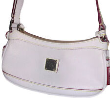 Dooney & Bourke Mini Top Zip weekender cross-body white leather Handbag Purse