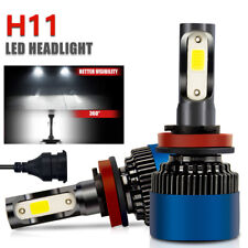 2pcs LED Headlight Conversion Kit  H8 H9 H11 6000K Low Beam Fog Bulb White