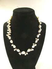 Genuine Natural Fresh Water Pearl Necklace NWT