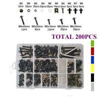 200x Fairing Body Bolts Kit Screws Clip For YAMAHA YZF600R YZF750R 1994-2007