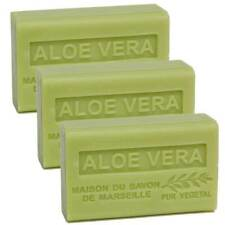 3 x 125g Bars - Aloe Vera Scented French Soap with Organic Shea Butter