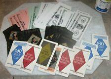 Vintage 1989 Donald Trump Collectible Play Money & Cards - USA President