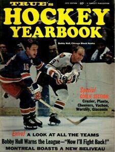 1970 True's Hockey Yearbook Magazine, Bobby Hull, Chicago Blackhawks ~ Excellent