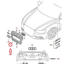 Audi A6 S6 Avant C7 Paraurti Anteriore Radiatore Griglia 4G0853651AD 1RR Nuovo