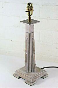 Table Lamp An Antique English Art Deco Wooden Table Lamp Skyscraper Design