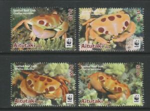 Aitutaki - 2014, Endangered Species, Spotted Reef Crab set - MNH - SG 823/6