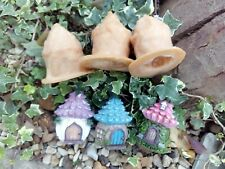 3 New latex moulds, FAIRY HOUSES garden, home ornaments👼💞SALE!!!£10.99