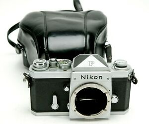 Vintage Nikon F Body # 6547098 With Regular Prism & Black Original Case. Clean.