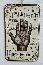 """🖐HALLOWEEN Palmistry Fortune Telling Palm Reading Wall Sign Door Decor 13"""" x 8"""""""