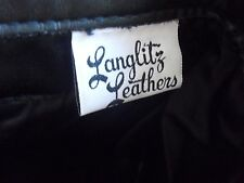 "Langlitz Leathers Motorcycle Pants Black Cowhide 26""X28"" 3 zippers Excellent !"