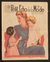'ECHO DE LA MODE' FRENCH VINTAGE NEWSPAPER HOME ISSUE 25 SEPTEMBER 1938
