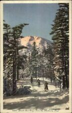 Skiing White Mountains NH Postcard BOOTT SPUR CRAGS FROM SHELBURNE TRAIL