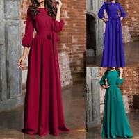 Womens Lady Boho Long Sleeve Long Maxi Evening Party Beach Long Dress Sundress 0